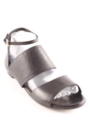 "Alexander McQueen Strapped Sandals ""Erin Flat Strap Sand"" black"