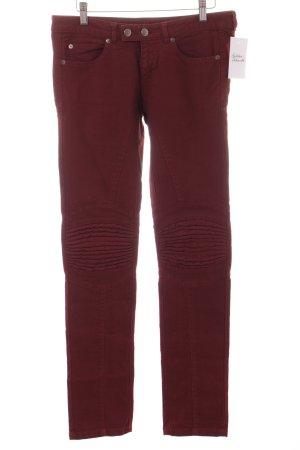 Alexander McQueen Tube jeans bordeaux Biker-look