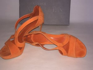 Alexander McQueen High Heel Sandal orange suede