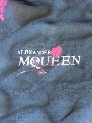 Alexander McQueen Seidentuch, 120x120 cm, Skull & Roses