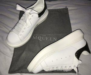 Alexander McQueen Zapatilla brogue blanco-color oro Cuero
