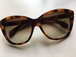 Alexander McQueen Sonnenbrille 4263/FS 05L CC Havana Brown Nieten Neu!
