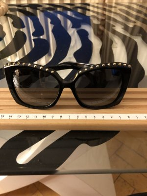 Alexander McQueen Glasses black-gold-colored synthetic material
