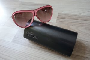 Alexander McQueen Aviator Glasses neon pink synthetic material