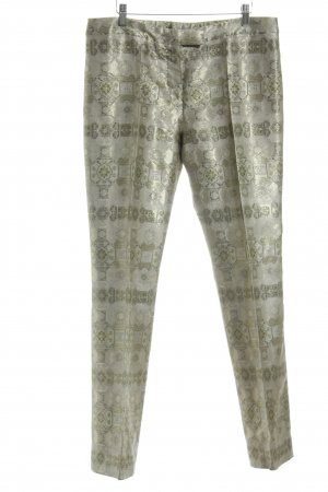 Alexander McQueen Jersey Pants gold-colored mixed pattern elegant