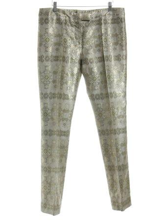 Alexander McQueen Stoffen broek goud Patroon-mengeling elegant