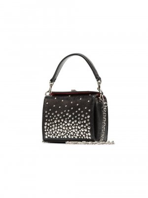 Alexander Mcqueen Studded Leather Chain Mini Box Bag