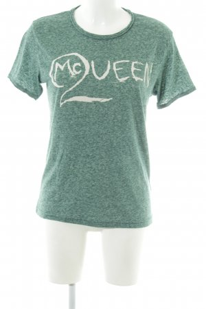 Alexander McQueen T-Shirt green-white flecked casual look