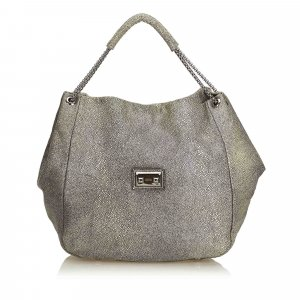 Alexander Mcqueen Textured Leather Hobo Bag