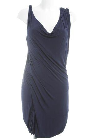 Alexander McQueen Trägerkleid dunkelblau klassischer Stil