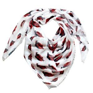 Alexander McQueen Tuch in Weiß und Rot