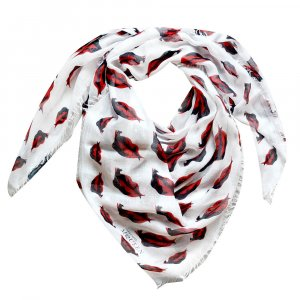 Alexander McQueen Châle blanc-rouge