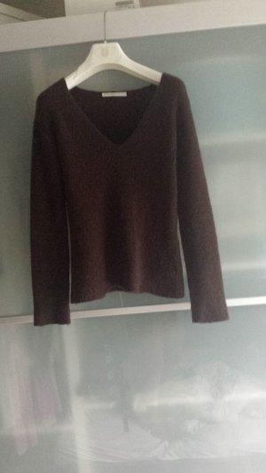 Alexander McQueen V-halstrui bruin-donkerbruin Gemengd weefsel
