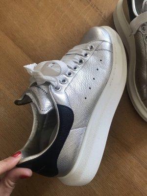 Alexander McQueen Heel Sneakers silver-colored