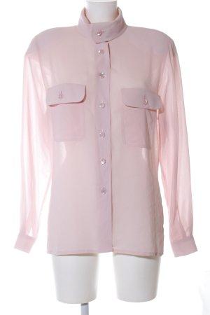 Alexander Transparent Blouse pink business style