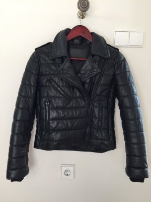 Alexander Wang Leather Coat black leather