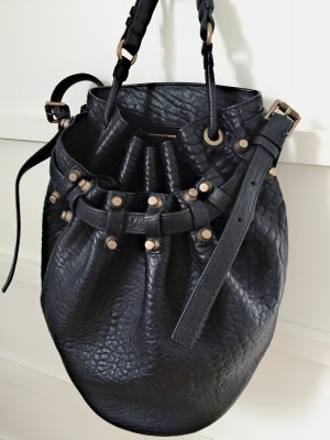 Alexander Wang Diego Black Pebble Lamb Bucket Bag