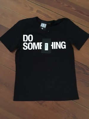 "Alexander Wang ""Do Something"" T-Shirt in Schwarz Shirt Aufdruck"