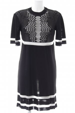 Alexander Wang for H&M Evening Dress black-white striped pattern casual look