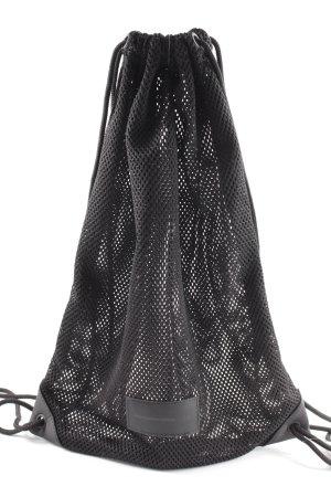 Alexander Wang for H&M Beuteltasche schwarz Lochstrickmuster schlichter Stil