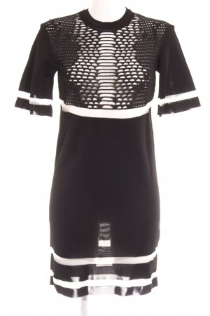 Alexander Wang for H&M Kurzarmkleid schwarz-weiß Elegant