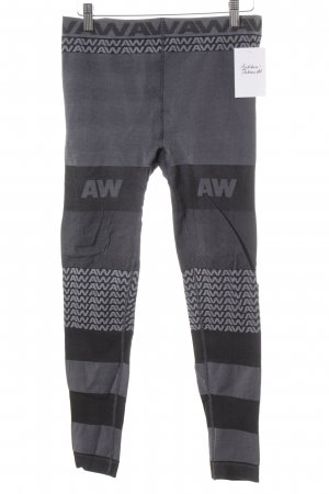 Alexander Wang for H&M Leggings dunkelgrau-schwarz Monogram-Muster