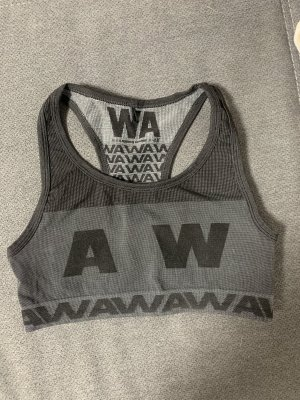 Alexander Wang for H&M Sports Tank silver-colored-black