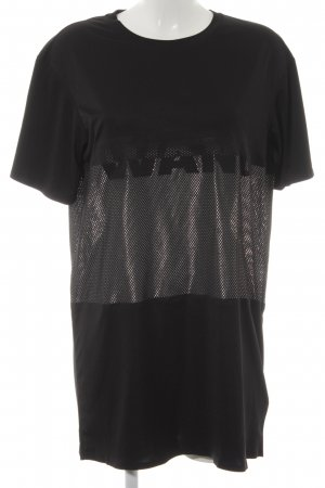 Alexander Wang for H&M T-Shirt schwarz-weiß Neopren-Optik