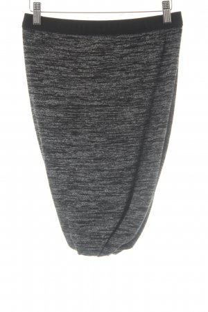 Alexander Wang High Waist Skirt black-white flecked casual look