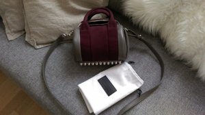 Alexander Wang Bag grey-blackberry-red leather