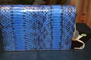 Alexander Wang Wallet blue-black reptile leather