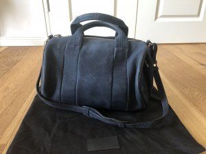 Alexander Wang Handbag dark blue-gold-colored suede