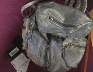 Alexander Wang Rucksack Backpack silber Platzwunder