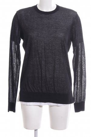 Alexander Wang Crewneck Sweater black flecked casual look