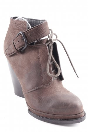 Alexander Wang Lace-up Booties brown street-fashion look