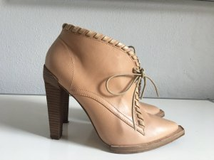 Alexander Wang Lace-up Booties sand brown leather
