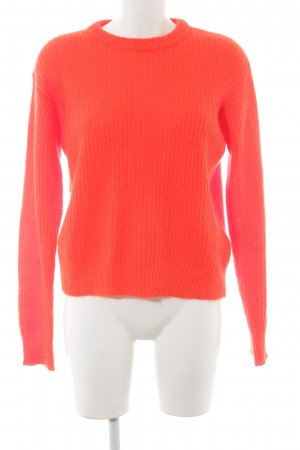Alexander Wang Knitted Sweater neon orange weave pattern casual look