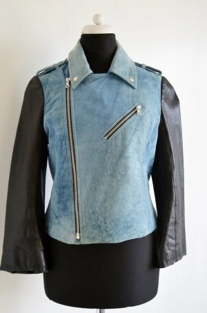 Alexander Wang Two Toned Leather Jacket Lederjacke 34 36