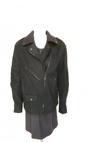 Alexander Wang Biker Jacket black wool
