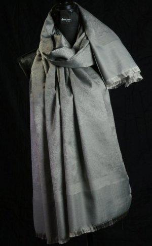 Foulard gris tissu mixte