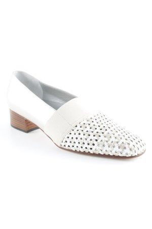 Alexandria Schlüpfschuhe beige-graubraun Webmuster Casual-Look