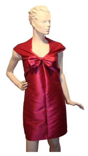Robe bustier rouge brique coton