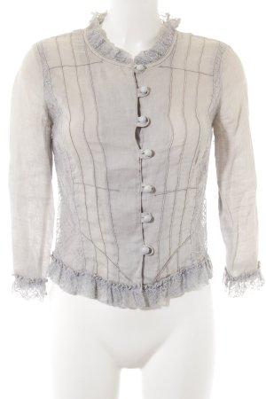 alexo Blusa de manga larga beige-gris claro look casual