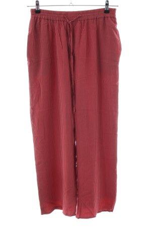 Alexon Culottes rot-wollweiß Streifenmuster Casual-Look