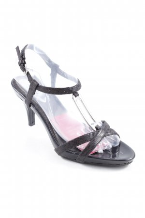 Alfani T-Strap Sandals black-silver-colored party style