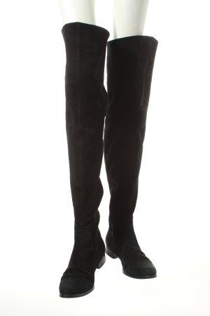 Alfredo Giantin Overknees schwarz klassischer Stil