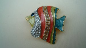 Alfredo Pauly Broche multicolor metal