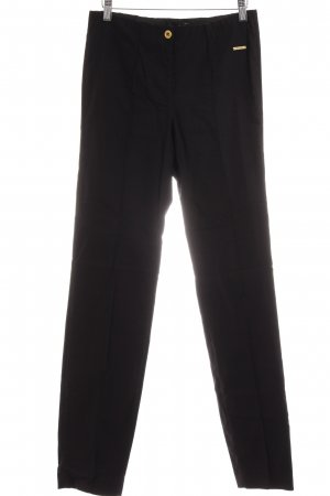 Alfredo Pauly Bundfaltenhose schwarz Business-Look