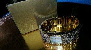 Alfredo Pauly Orologio con cinturino di metallo oro
