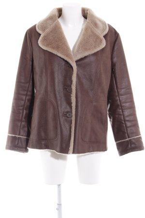 Alfredo Pauly Fur Jacket dark brown-grey brown elegant